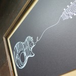 Half a Crown Illustration Hey Hey My My Neil Young Guitar Typography print