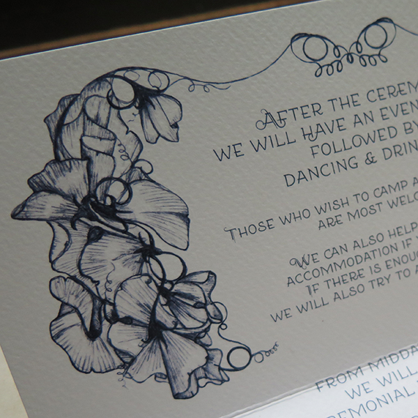 R&J Wedding Invitations Sweet Peas 5
